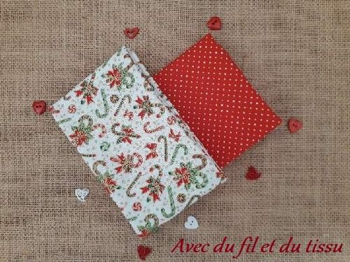 lot 2 fat quarter Noël 1