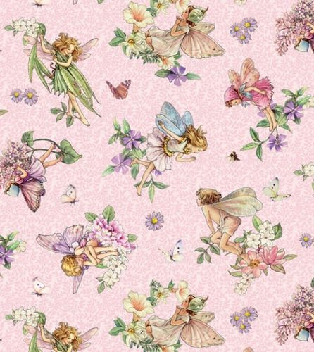 fat quarter coton Songs of the Flower Fairies (fées)
